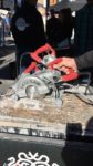 Skilsaw highlighted its new MEDUSAW worm drive concrete saw with an integrated wet/dry dust management system.