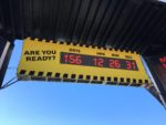 Bosch featured a countdown display, counting down the days until OSHA's new silica rule is enforce June 23, 2017.