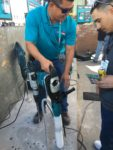 Makita showcased its new innovations at its outdoor both during World of Concrete.