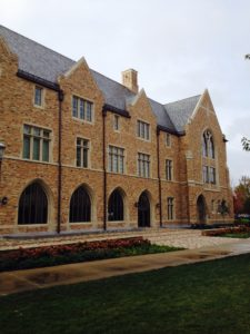 The Stayer Center for Executive Education building at Notre Dame incorporates Architectural Cast Stone from Kansas City, Kan.-based Midwest Cast Stone, http://MidwestCastStone.com.