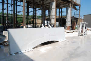 Shown is cast stone on the factory floor, created by Warrenton, N.C.-based Cast Stone Systems Inc., CastStoneSystems.com