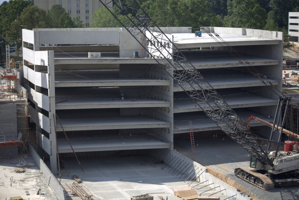 One of the key components of a parking garage are double-tees, which form the structure's floor and ceiling.