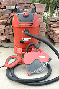 Hilti – DCH300 cutting tool with 212131 shroud and VC300-17X vac