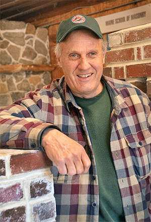 Stephen Mitchell, founder of and instructor of the Maine School of Masonry.